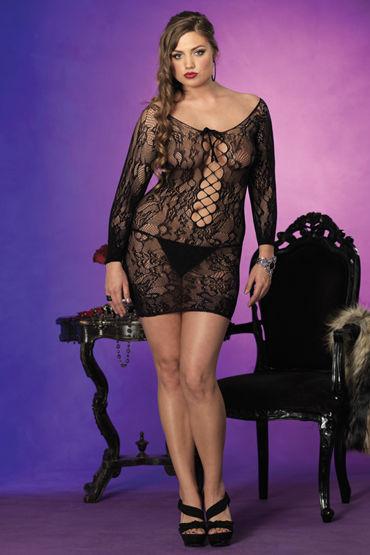 Leg Avenue мини-платье, С длинными рукавами - Размер XXL от condom-shop.ru