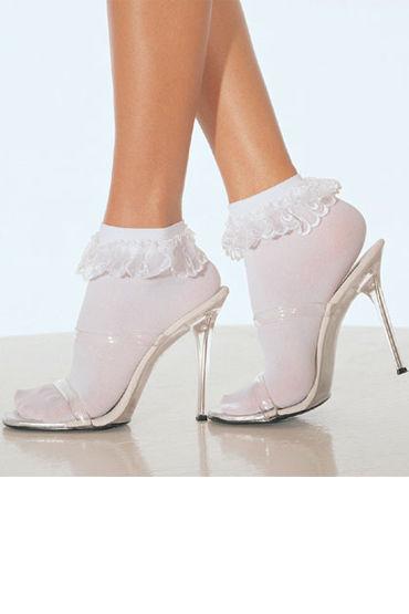 Leg Avenue носочки, красные С кружевной резинкой