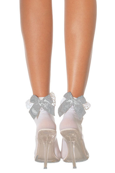 Leg Avenue носочки, белые С белым бантом