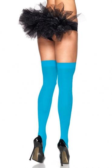 Leg Avenue чулки, голубые Непрозрачные