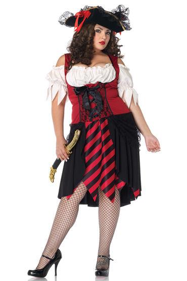Leg Avenue Роковая пиратка Роскошное платье с атласной шнуровкой