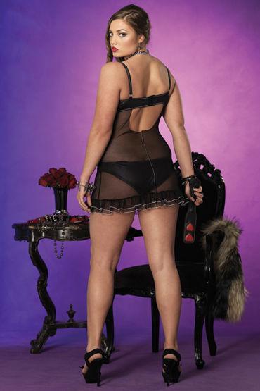 Leg Avenue мини-платье и трусики Шикарный полупрозрачный комплект белья