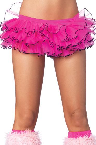 Leg Avenue подъюбник, розовый С черным кантиком