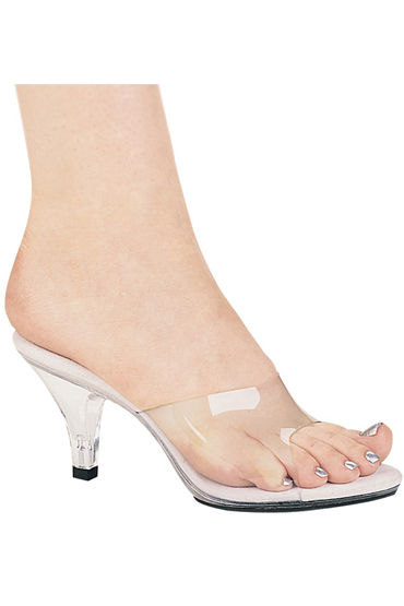 Ellie Shoes Vanity, прозрачный Босоножки на каблучке 7,5 см