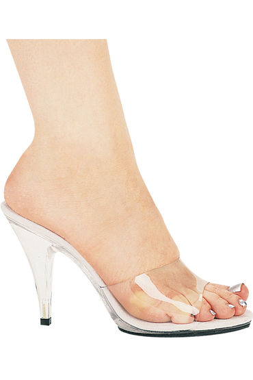 Ellie Shoes Vanity, прозрачный Босоножки на каблучке 10 см