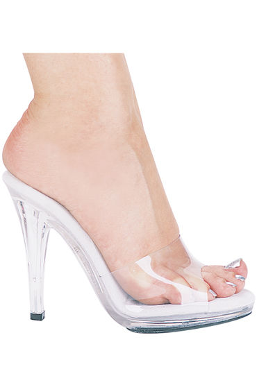 Ellie Shoes Vanity, прозрачный Босоножки на каблуке 12 см