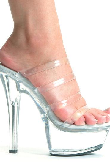 Ellie Shoes Crystal Сабо на высокой платформе, каблук 15 см