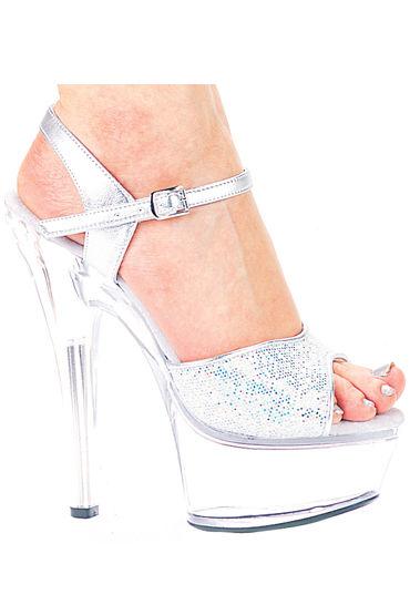 Ellie Shoes Juliet Блестящие босоножки, каблук 15 см
