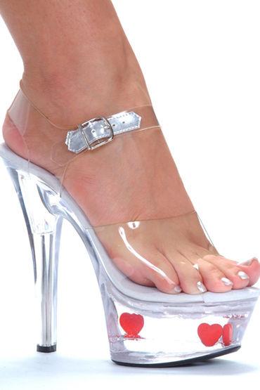 Ellie Shoes Sweetie Босоножки с сердечками, каблук 15 см