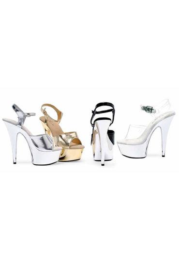 Ellie Shoes Chrome, черный Элегантные босоножки на каблуке 15 см