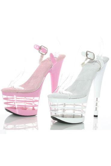 Ellie Shoes Stack, белый Красивые босоножки на каблуке 17,8 см