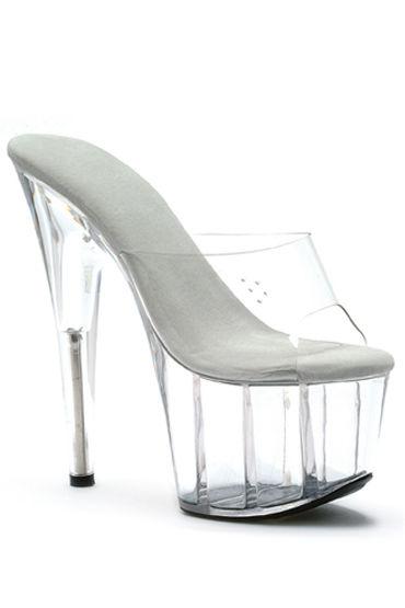 Ellie Shoes Vanity, прозрачный Сабо на очень высоком каблуке 17,5 см