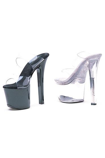 Ellie Shoes Coco, прозрачный Эффектное сабо на шпильке 17,5 см