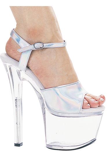 Ellie Shoes Flirt, перламутровый На прозрачной платформе с каблуком 18 см
