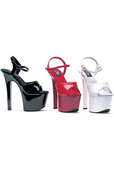 Ellie Shoes Flirt, белый На глянцевой платформе с каблуком 18 см