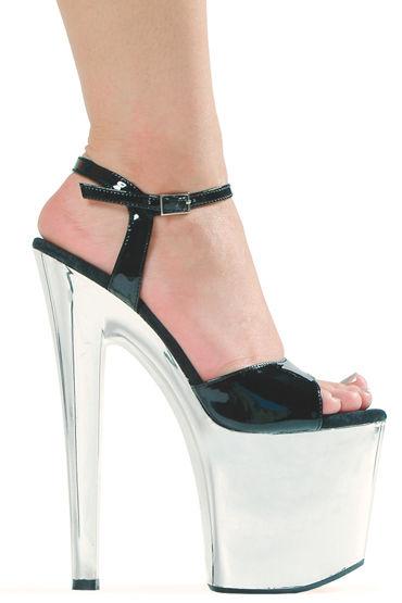Ellie Shoes Chrome, серебристый Эффектные босоножки с каблуком 20 см