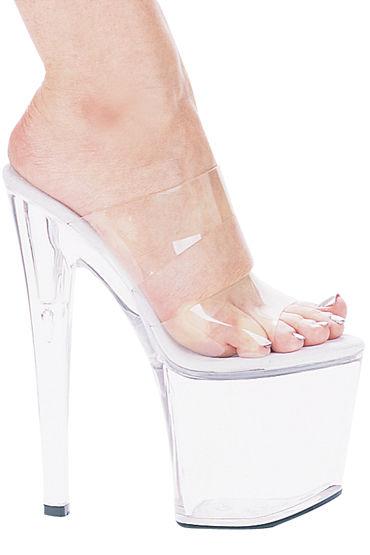 Ellie Shoes Coco Эффектные сабо на каблуке 20,3 см