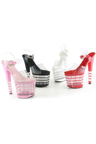 Ellie Shoes Stack, черный Красивые босоножки на каблуке 21 см