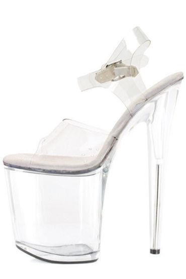 Ellie Shoes Brook Прозрачные босоножки на каблуке 20 см