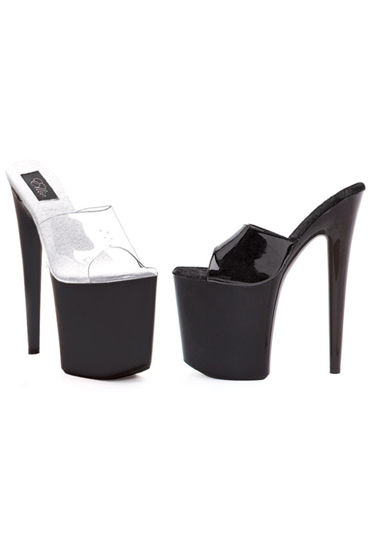 Ellie Shoes Vanity, черный Сабо на высокой платформе, каблук 20 см