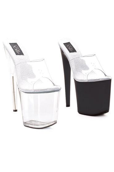 Ellie Shoes Vanity, прозрачный Сабо на высокой платформе, каблук 20 см