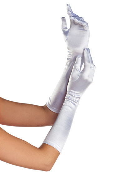 Bewicked перчатки, белые Эластичные, длина 39 см