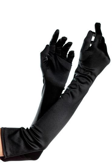 Bewicked перчатки, черные Эластичные, длина 57 см