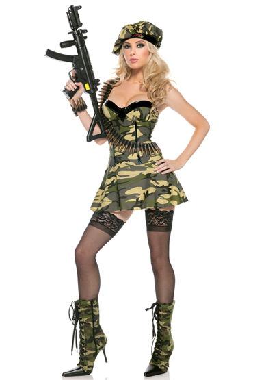 Bewicked Солдат Джэйн Платье и берет камуфляжной расцветки