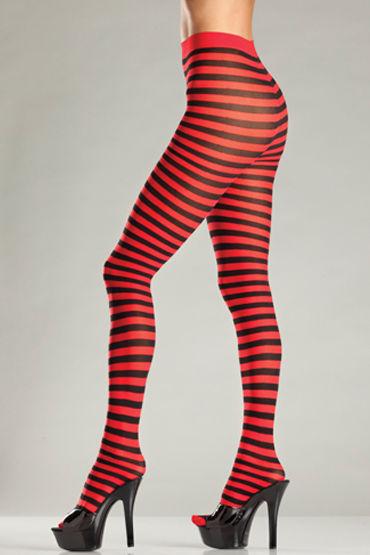 Bewicked Striped Tights, черно-красный Колготки в игривую полоску