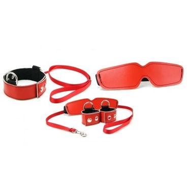 Sex & Mischief Bondage Kit, красный Маска, наручники и ошейник