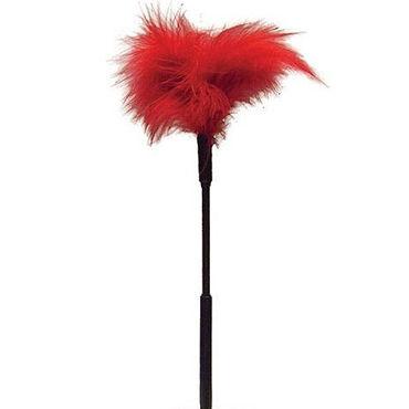 Sex & Mischief Feather Tickler, красный Игривая щекоталка