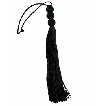 Sex & Mischief Small Whip, черный C латексными хвостами, 25 см