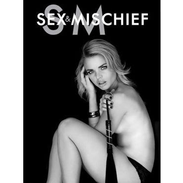 Sex & Mischief Jeweled Flogger Кожаная плетка со стразами