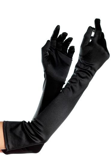 Bewicked перчатки, белые Длинные, из атласа