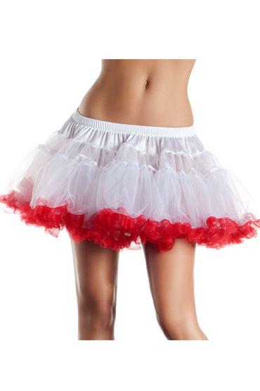 Bewicked юбка, бело-красная Пышная двухслойная