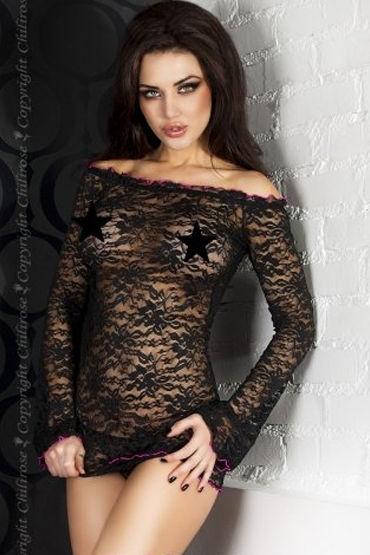 ChiliRose мини-платье, С открытыми плечами - Размер S