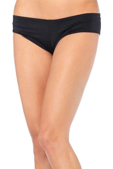 Leg Avenue трусики, черные, Удобные лайкровые - Размер S-M