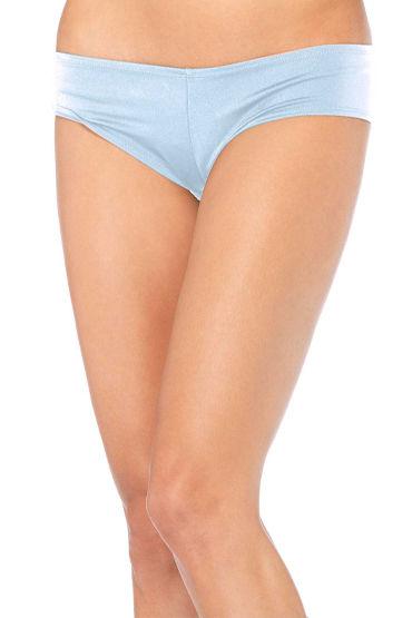 Leg Avenue трусики, голубые, Удобные лайкровые - Размер S-M