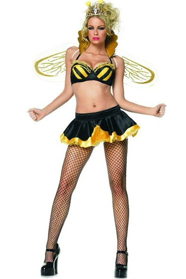 Leg Avenue Королева Пчелка, Бюстгальтер, юбка, корона и крылья - Размер S-M