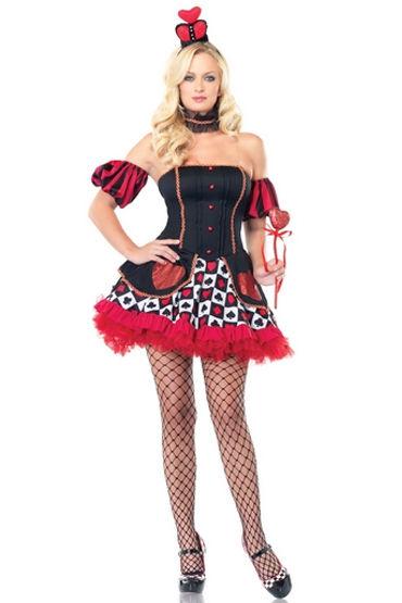 Leg Avenue Королева Зазеркалья, Платье с нарукавниками и короной - Размер XS от condom-shop.ru