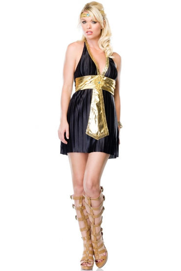 Leg Avenue Богиня Нила Платье с поясом и украшение на голову