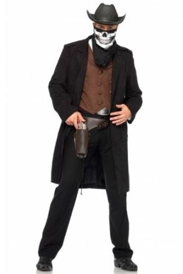 Leg Avenue Reaper Cowboy, Жилетка, длинный плащ, платок и кобура - Размер M-L