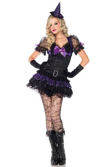 Leg Avenue Маленькая Ведьма, Игривое мини-платье и шляпа - Размер S-M от condom-shop.ru