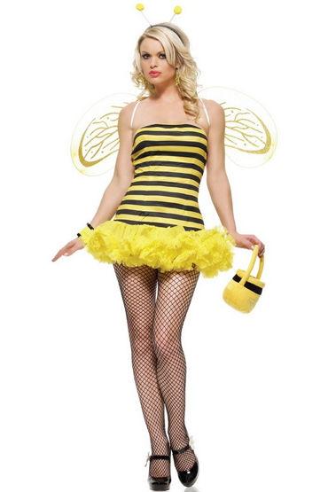 Leg Avenue Пчелка, Сексуальное платье с крылышками и рожки - Размер XS
