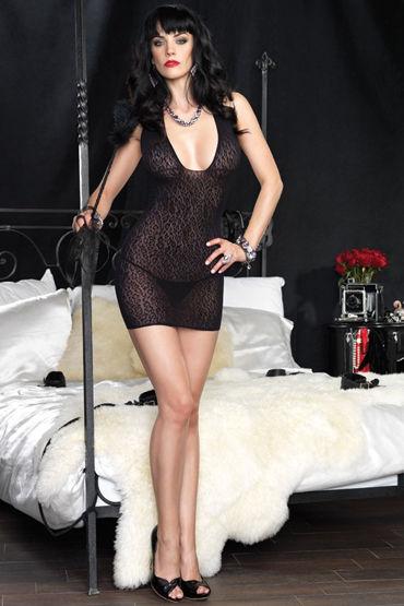 Leg Avenue мини-платье, С леопардовым узором - Размер Универсальный (XS-L)