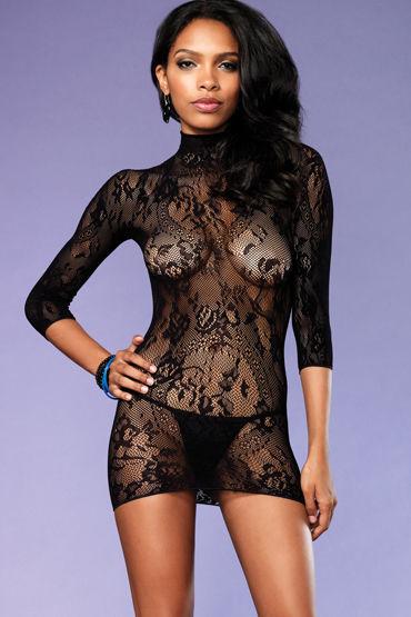 Leg Avenue мини-платье, черное С обнаженной спинкой