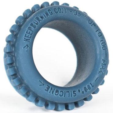 Keep Burning Grinder Ring, синее Эрекционное кольцо оригинальной формы