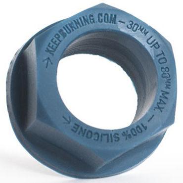 Keep Burning Lock Nutt, синее Эрекционное кольцо оригинальной формы