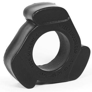Keep Burning Cock Shift, черное Эрекционное кольцо оригинальной формы