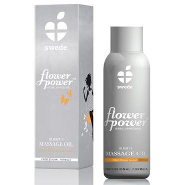 Swede Flower Power Blissful, 50мл Масло для массажа с эфирными маслами клевера, апельсина и лаванды